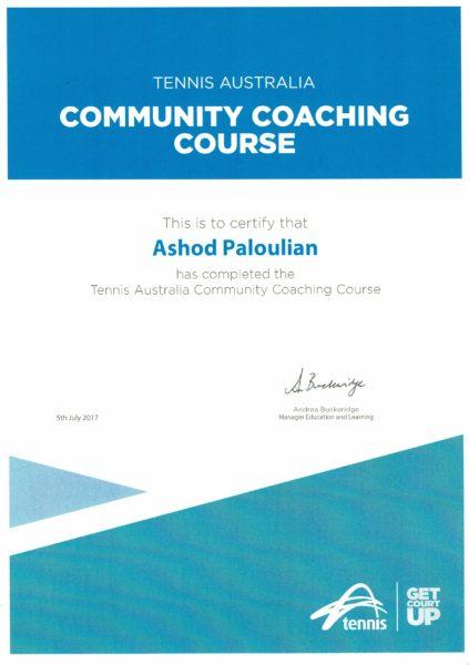 Community Coaching Certificate